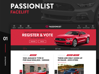 PassionList development web uxui ux ui design app list passion passionlist
