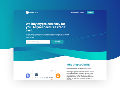 Web design - Cryptoclerks web design ux ui