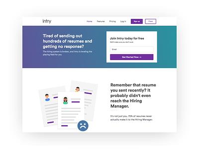 Web Design - Intry web app web design ui  ux web design ux ui