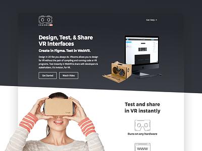 VRooms VR Landing Page web design ux ui landing page