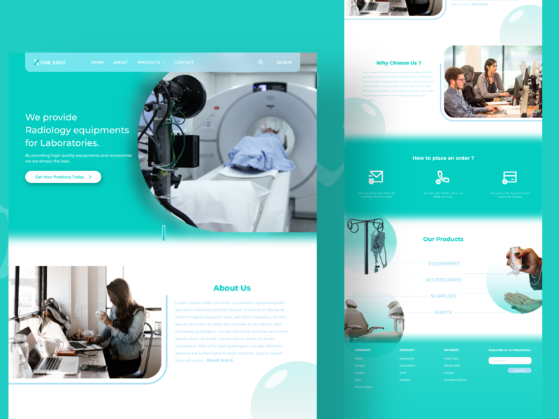 Radiology Equipments providing Landing page graphic design branding landingpage website logo vector design web ux ui
