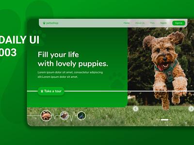 Daily UI 003 mockup - Landing Page branding design ux ui daily ui 003 daily ui challenge daily ui