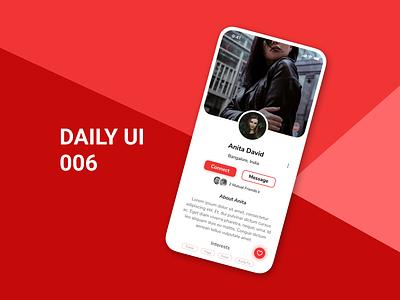 Daily UI 006 - User Profile daily ui challenge design ux ui daily100challenge dailyuichallenge daily ui 006 daily ui dailyui
