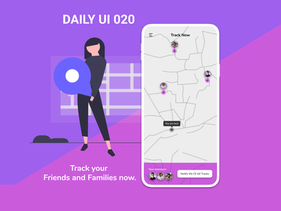 Daily UI 020 - Location Tracker daily 100 challenge design ux ui daily 100 daily100challenge dailyuichallenge daily ui challenge daily ui 020 dailyui daily ui