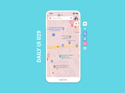 Daily UI 029 - Map maps map design ux ui daily 100 challenge daily 100 daily100challenge dailyuichallenge daily ui challenge dailyui daily ui