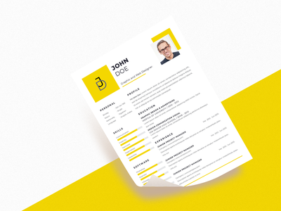 Graphic Designer Resume Designs Themes Templates And Downloadable Graphic Elements On Dribbble