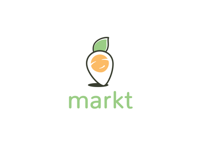 Markt agronomy market marketplace playful vector app icon icon design logo
