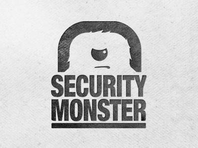 Security Monster Logo V4 logo illustrator photoshop mockup