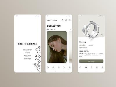 Handmade jewelry store store handmade jewelery jewelry mobile ui web ux design app