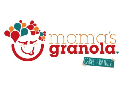 Granola Logo logo mark cute kids youthful bright