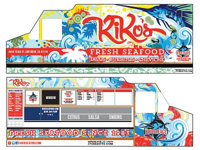 Food Truck Wrap WIP food truck truck wrap illustration branding tacos wip
