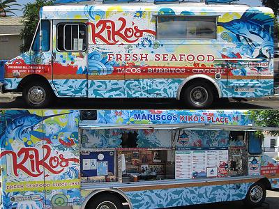 Food Truck vehicle wrap vinyl mural illustration food truck