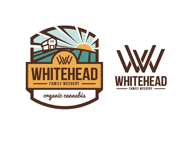 Whitehead Weedery  branding illustration logo
