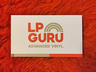 LP Guru Business Card branding logo print business card