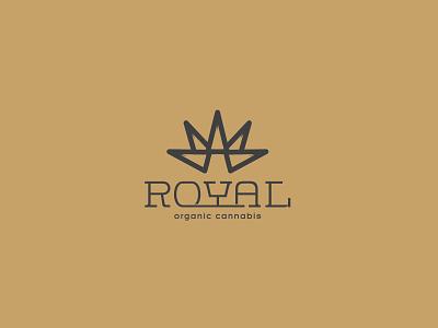 organic cannabis logo crown illustration cannabis logo