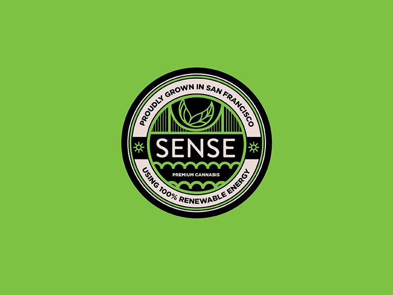 Sense Cannabis Badge branding illustration seal cannabis packaging logo badge