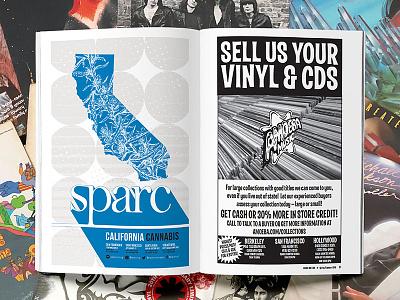 Sparc Amoeba Ad vinyl california advertisement illustration cannabis