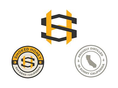 Smoked Honey logo & branding icon illustration identity cannabis branding brand logo badge monogram