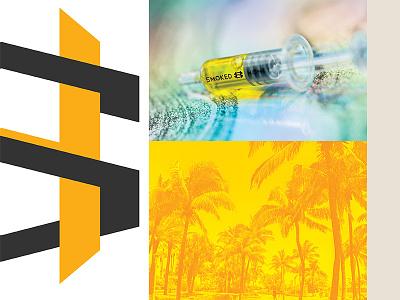 Smoked Honey icon illustration identity cannabis branding brand logo badge monogram