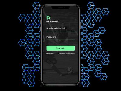 Resport design identity illustration prototype app design app