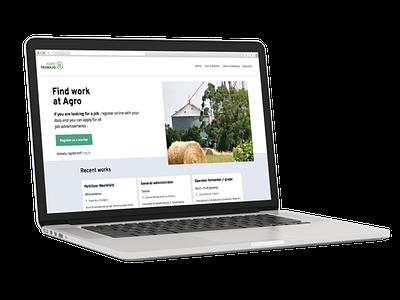 Agrotrabajo ui webdevelopment webdesign ux user experience uiux website developer design