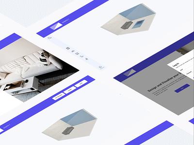 3D Room Visualizer interior design vr ux ui website user experience ecommerce 3d room 3js