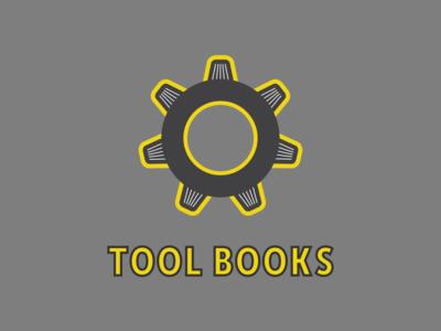 Tool Books Logo Concept 1 gear books tools logo inspiration logo design illustrative logo illustration logomark wordmark logo branding controid design controid