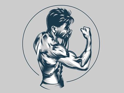 vectorart martial arts marshall sports logo portrait design clipart mascot logo graphic vector artwork vector art vector portrait illustration illustration