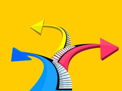 arrow icon vector flat vector artwork illustration graphic arrow