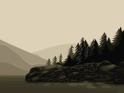 Forest vector artwork graphic illustration bg
