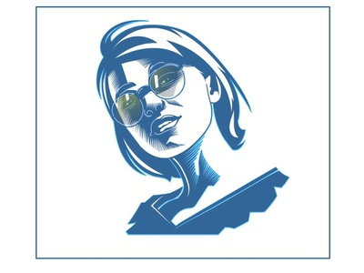 vector-art digital mascot avatar portrait design website art flat art book vector art design girl illustration portait graphic vector artwork portrait illustration vector