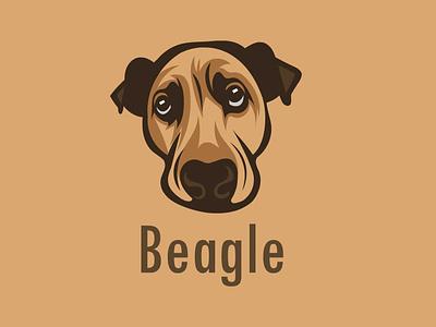 Dog graphic portrait illustration flat mascot character mascot design vector art dog-logo dog-vector dog dog art beagle portait vector vector artwork illustration