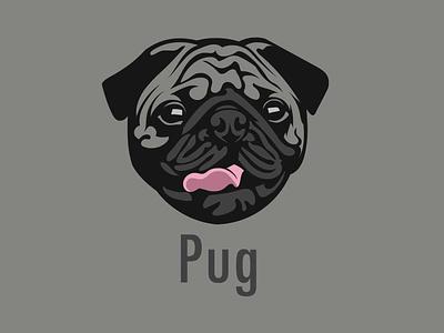 Dog vector art portait print design mascot animal vector illustration dog dog art pug vector artwork portrait illustration graphic