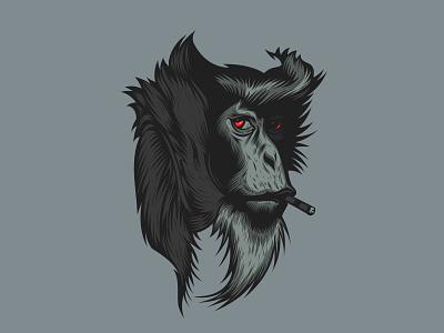 vector art monkey monkey logo illustration graphic design portrait illustration vector artwork portait monkey king monkey vectorart
