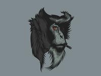 vector art monkey