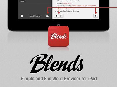 Blends App Site ipad dictionary ios