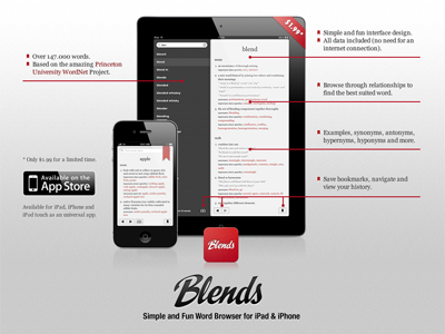 Blends Site iphone ipad ios dictionary app