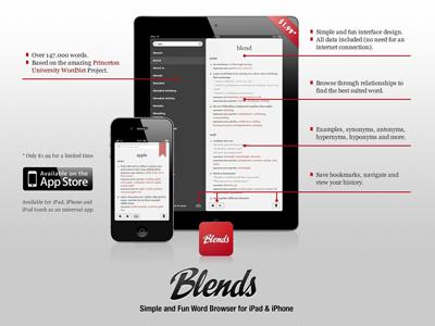 Blends Site iphone ipad ios dictionary app