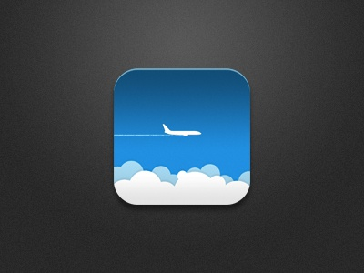 Airplane Icon ios icon airplane clouds