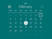Calendar freebie: Metro Style