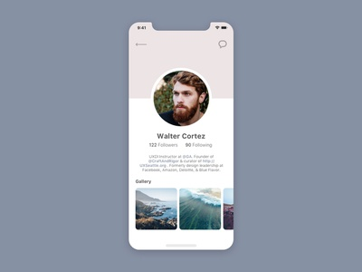 Daily UI #006 User Profile userprofile dailyui006