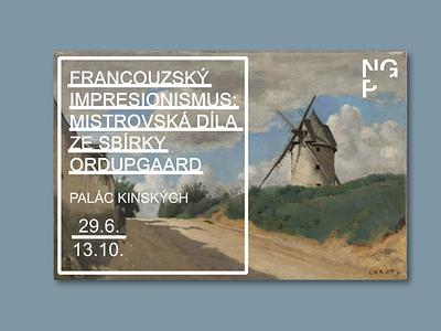 National Gallery Prague exhibition poster graphic design