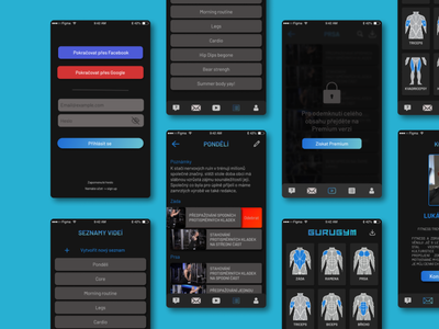 GuruGym, workout app app ux ui