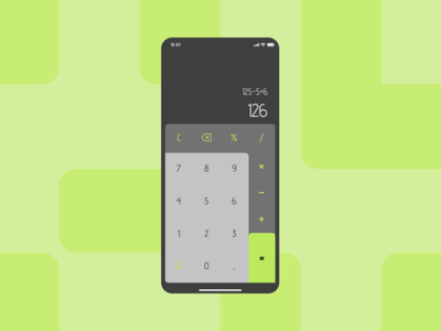 calculator app, redesign ui app