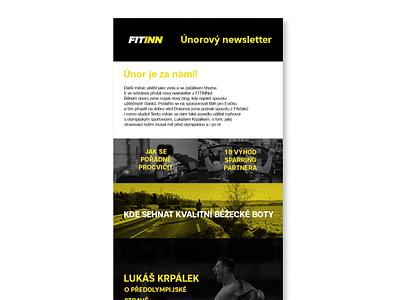 Fitinn, emailing newsletter graphic design design online mailing