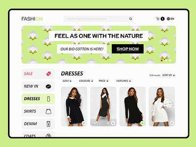 Clothing eshop eshop clothing design app web ux ui