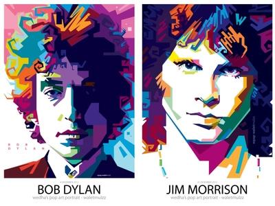 Bob Dylan & Jim Morrison
