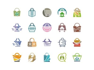 Shop Stock Logo buy sell pay online store bag cart shopping icon logo stock shop
