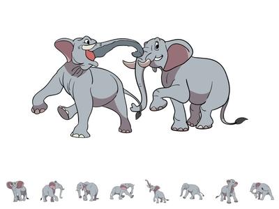 elephant cartoon toons mascot jungle funny logo illustration gray animal elephant cartoon