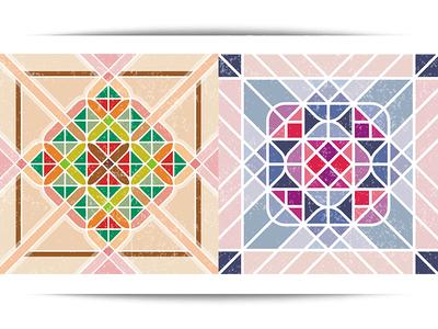 Vinyl Floor Tile Sticker #1 ornament seamless modern pattern stiker tile floor vinyl